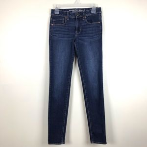 American Eagle Super Skinny Stretch Jeans Whiskers